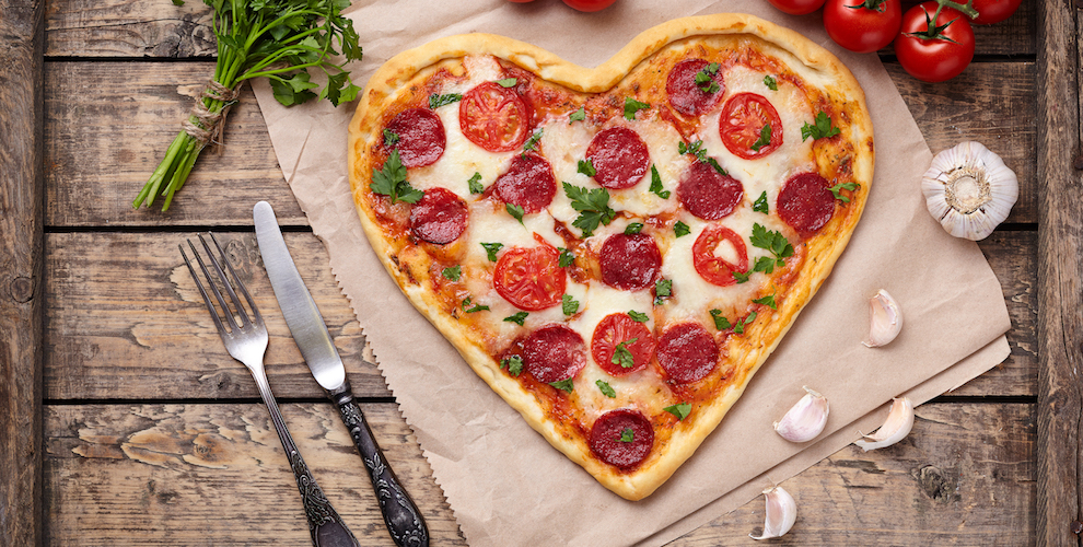 Cannabis Infused Valentines Pizza